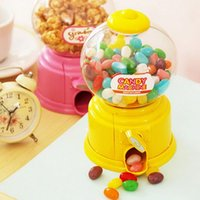 Wholesale Hot New Cute Sweets Mini Candy Machine Bubble Gumball Dispenser Coin Bank Kids Toy