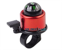 Wholesale Bike Cycling Alarm Bell Bicycle Horn with Compass Safety Bicycle Accessory Colorful Sweet Sound Warning Bike Compass Bell order lt no track