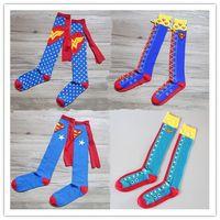 army socks - women wonderwomnan Superman batman flashman captain america knee high long Socks summer style cotton socks party cosplay Handwork Tail socks