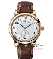 Wholesale rose gold ROLE Men s Watch Grande Lange Leather Strap Phase Automatic Mechanical watches X vauel
