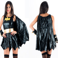 Wholesale New Arrival Sexy Woman Halloween Costume Batman Superhero Price Hot Sale Sexy Women Batgirl Halloween Cosplay Costume W38653