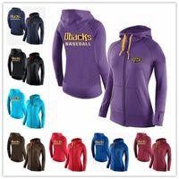 Wholesale New Women s Hoodies Arizona Diamondbacks Baseball Jackets Sportswear Jogging Fleece sweatshirt Mixed order