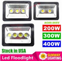 Wholesale US stock led Floodlight W W W Outdoor LED Flood light lamp waterproof LED Tunnel Fishing boats light street lamps AC V