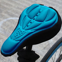 Wholesale Bicycle D Silicone Gel Pad Seat Saddle Cover Mountain Bike Cycling Soft Cushion Bike Seat Cover