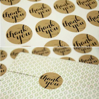 Wholesale quot Thank You quot Seals Handmade Paper Sticker Labels Seal Favours Toppers Gift Cupcake Decal Party