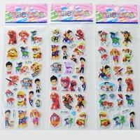 Wholesale Wall Decor Paw Patrol Sticker cm Marshall Rubble Chase Rocky Zuma Skye Ryder Stickers Children Xmas Party Decor Toys Gift WX S24