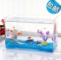 Wholesale thick rectangle forming ultra white glass aquarium goldfish bowl tropical fish tank planted tank
