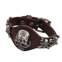 african tribe jewelry - Skull Bracelets Men Jewelry Tribe Punk Rock Men s Wristband Belt Buckle Braclets Vintage Brand New Top Quality