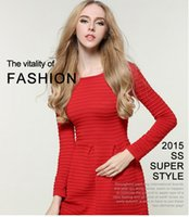 apparel knitted sweater casual - 2016 new street style lady autumn apparel wear high waist knitting Pleated long sleeved sweater dress