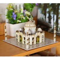 architecture construction - Popular Wooden D Puzzle Taj Mahal Eiffel Tower Cubic Wooden Puzzle World s Beauty Architecture Construction Kids Toys for Gift