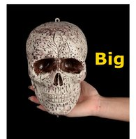 bar tricks free - Halloween toys Plastic skull head hanging crossbones KTV club Bar holiday decoration Tricky trips Trick or treat W0001
