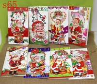 Wholesale 3D Christmas Greeting Cards Xmas Festive Event Party Supplies Patterns Pieces Drop Shipping