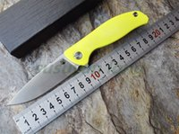 apple knife - Shirogorov F3 Bearing system Floding knife Metal wire drawing D2 blade Apple green G10 handle outdoor survival hunting camping tool OEM