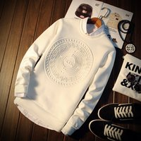 Wholesale The young men s fashion new polyester cotton long sleeved t shirt men fall in space to do Hoodie