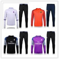 Wholesale 2017 Real Madrid Soccer tracksuits Best quality survetement football Marseille training suit sweat top chandal soccer jogging football