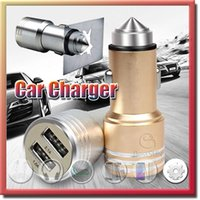Wholesale Safety Hammer Universal Dual USB Car Charger with V A V A USB Charging Socket for iphone S plus samsung Note