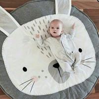 baby room games - Size CM Baby Blanket Rabbit Bear Game Mat Kids Bedding Stroller Blanket Children Crawling Carpet Children s Room Decoration