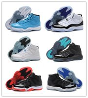 Wholesale Cheap Retro XI Bred Concord Gamma Blue Basketball Shoes Athletics Boots Discount Sports Leather Mens Basketball Shoes With Box
