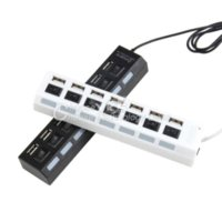 Wholesale 1pcs Port US Plug USB Power Hub High Speed Adapter ON OFF Switch For PC Laptop for MAC Hot Search