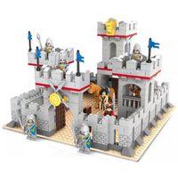 achat en gros de jouer ensemble garçon-Jouets Delo blocs de construction en plastique jouets d'auto-assemblage ancien jeu de château de guerre set garçon cadeau d'anniversaire sans emballage boîte JJ003039