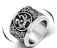 american transporter - Jewelry Evil four animal transporters rotatable titanium steel rings unique design personalized jewelry SA732