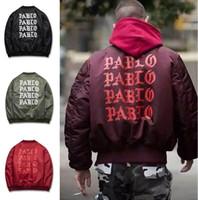 acrylic paul - Kanye West I Like Hip hop Paul MA1 Bomber Jacket Army Air Yeezuss Skateboarding Motor Jesus Christ Iraqi Military Coat