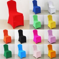 Wholesale Universal Colorful Spandex Polyester Wedding Chair Cover for Banquet Chair Hotel Decoration Party Supplies