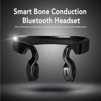 Wholesale 2016 New Neckband Bluetooth Wireless Stereo Headset Sports Running Music Bone Conduction Headphones Earphone For Mobile Phone