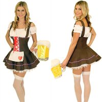 bavarian dirndl - Free PP New Beer Maid Wench Costume Bavarian Dirndl Costume Sexy Germany Beer Girl Fancy Dress