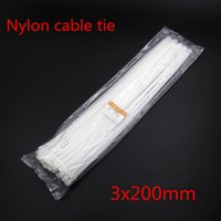 Wholesale White length quot mm Network Nylon Plastic Cable Wire Zip Tie Cord Strap Home Garden Use