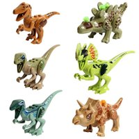 baby block gift - Jurassic Park World Mini Figure movie Kid Baby Dinosaur Toy Building Blocks Sets Model Toys Minifigures Brick christmas gifts