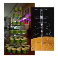 Wholesale Wedding Party Supplies Tier Round Circle Cake Pan Cupcake Stand Candy Dessert Plate Birthday Party Decoration wa150