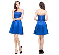 Wholesale Vestido de Festa Curto Sexy Backless Party Dresses Royal Blue th Grade Short Graduation Prom Dresses Homecoming Dress Only CPS380