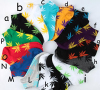 Wholesale 24pieces pairs Wed Socks Unisex Skateboard Hiphop Socks Maple Leaf Foot Socks Fashion Plantlife Ankle Women Men Cheap Price Boat Socks