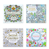 Wholesale 4 Design Secret Garden An Inky Treasure Hunt Coloring Book Children Adult Relieve Stress Kill Time Graffiti Painting Drawing Book