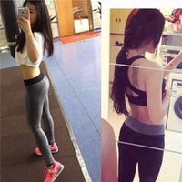 Wholesale 2016 Women Sport Running Pants Fitness Gym Clothing Sport Wear Tights Pants For Women Training Outdoor Workout Sportwear