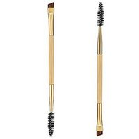 bamboo branding - 2016 Brand New Tarte Professional Makeup tools bamboo handle double eyebrow brush eyebrow comb makeup brush