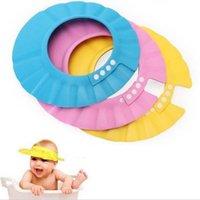 Wholesale Baby Shampoo Cap Safe Shampoo Shower Bath Protection Soft Caps Hats For Kids years Adjustable