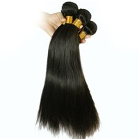 Wholesale Black Color Unprocessed Human Virgin Hair Brazilian Peruvian Malaysian Indian Hair Extension Straight Weaving Grade A no shedding hair