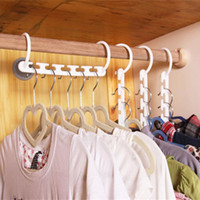 Wholesale 1PCS D Space Saving Hanger Magic Clothes Hanger with Hook Closet Organizer Home Tool