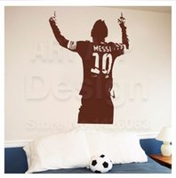 Wholesale Messi sports socker wall stickers decoration decor home decal fashion waterproof bedroom living sofa family house glass