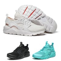 b holes - Huarache Ultra BR Triple White Summer Sneaker Air Huarache All white large holed mesh Men and Women light Running Shoes Eur36