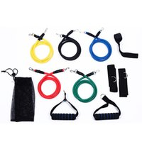 Wholesale 11 Resistance Bands Set for Fitness Exercise Yoga Pilates Abs Tube Workout