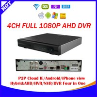 Wholesale HD P AHD DVR Channel CCTV P P720P H D1 AHD Hybrid DVR NVR in1 Video Recorder For AHD Analog IP Camera Mobile ESEE CLOUD