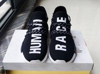 Cheap Wholesale 1:1 Quality NMD Human Race Mens Running Shoes NMD Pharrell Williams X NMD HUMANRACE Breathable Women Shoes Sneakers Training Shoes