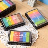 Wholesale 5 Gradient color pad DIY Scrapbooking tools Premium pigment inkpad for fabric wood paper Stationary school supplies