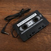 Wholesale 2016 Hot Sale Car Cassette Tape Adapter FOR MP3 CD MD DVD For Clear Sound Music drop shipping