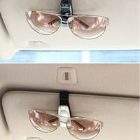 auto tickets - Car Glasses Clip Fastener Vehicle Auto Sun Visor Sunglass Eye Glasses Card Ticket Holder Clamp W055
