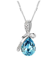 Wholesale A genuine SWAROVSKI crystal jewelry jewelry necklace elements Mantingfang upscale sea blue