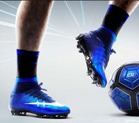 Wholesale 2016 High Quality New Mercurial Superfly CR7 FG AG Mens Magista Soccer Cleats Boots Hypervenom High Top Ankle Outdoor shoes Size